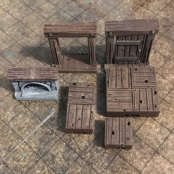 photograph relating to Printable Dungeon Tiles named 3D Printable Tavern Tiles