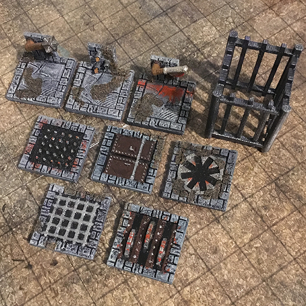 picture about Printable Dungeon Tiles identified as 3D Printable Dungeon Traps (Pack 1)