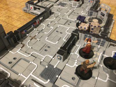 Sci Fi Tiles with NPC Minis