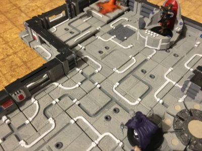 An evil sorcerer on the 3D printable sci fi tiles