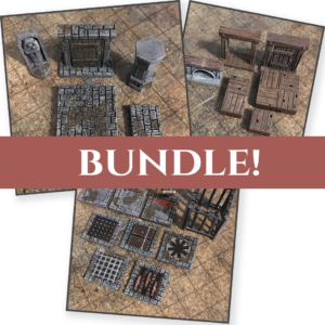 picture regarding Dungeons and Dragons Tiles Printable titled 3D Printable Dungeon Tiles Terrain - EpicDungeonTiles